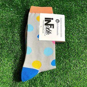 Diabetes Awareness Polka Dot Grey Socks